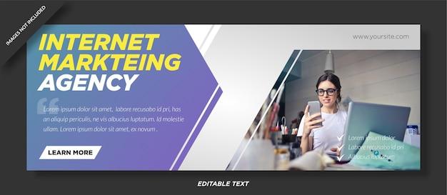 Copertura facebook dell'agenzia di marketing su internet Vettore Premium