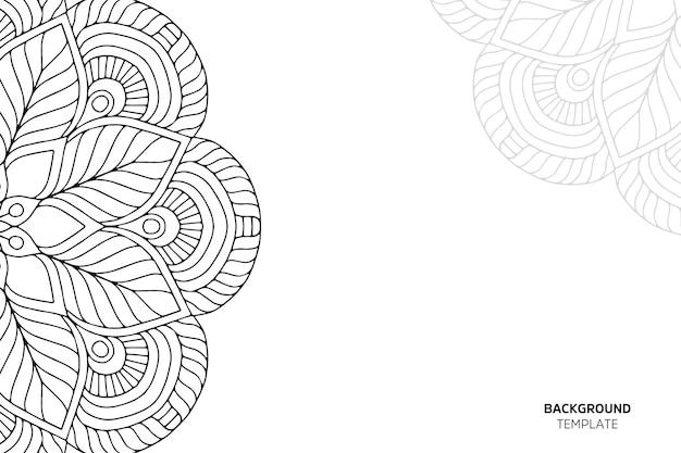 Carta di invito con backgraund ornamento floreale Vettore Premium