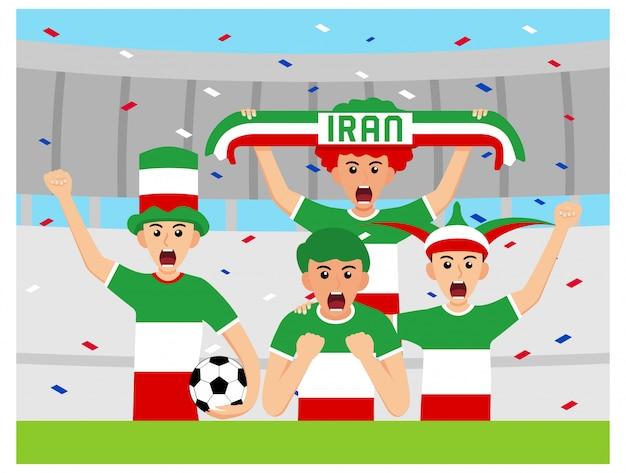 Sostenitori dell'iran in design piatto Vettore Premium