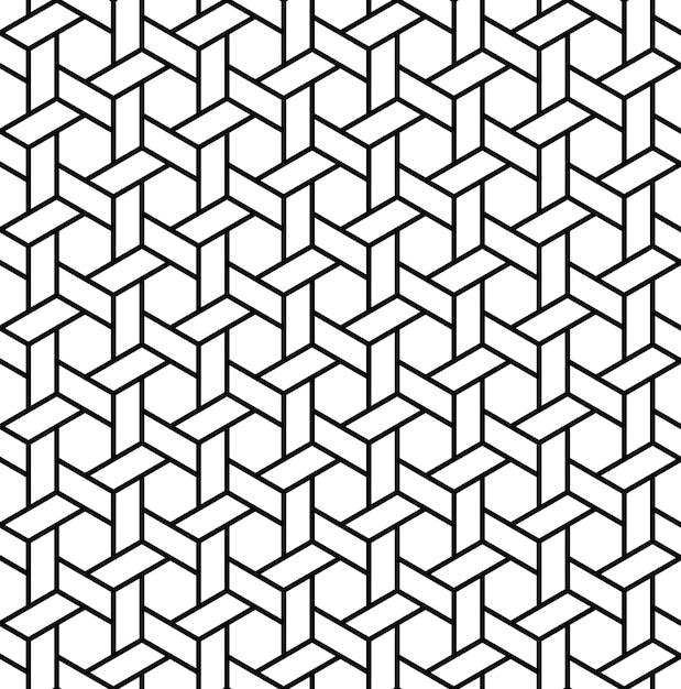 Modello senza cuciture geometrico islamico Vettore Premium