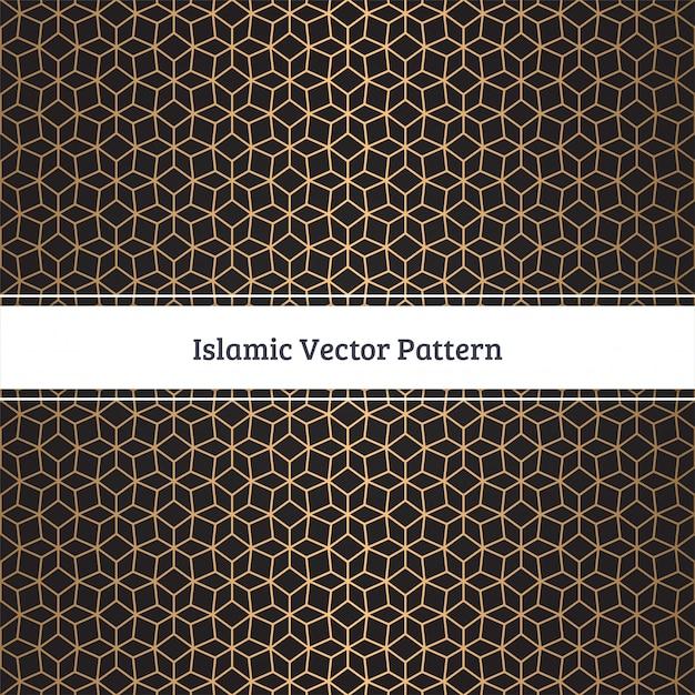 Modello senza cuciture islamico Vettore Premium