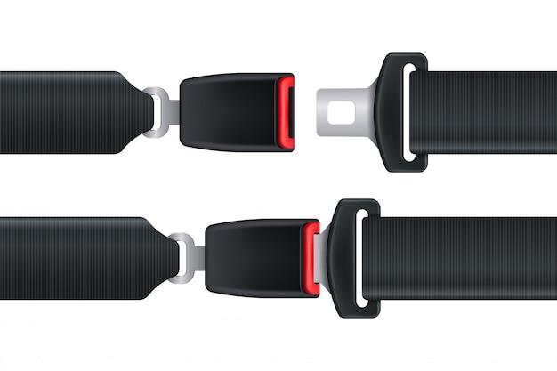Cintura di sicurezza isolata per sicurezza auto o aereo Vettore Premium
