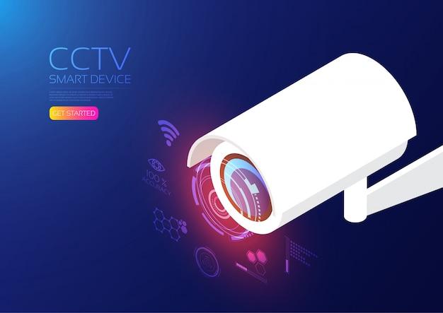 Cctv isometrico Vettore Premium
