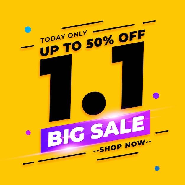 Banner di vendita di gennaio shopping day Vettore Premium