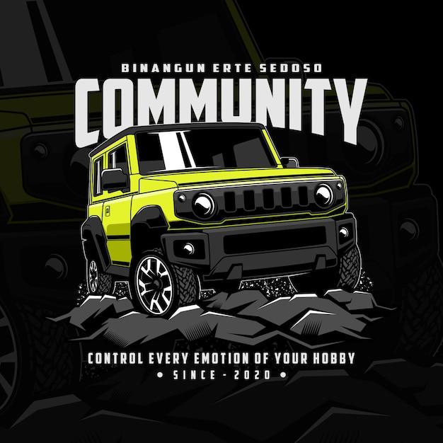 Jeep community adventure Vettore Premium