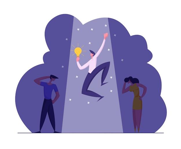 Illustrazione di concetto di reclutamento di affari di ricerca di lavoro Vettore Premium