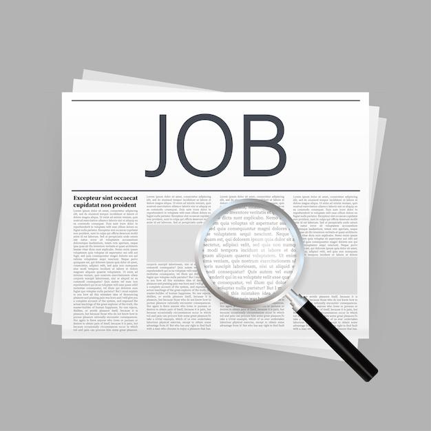 Giornale di ricerca di lavoro. colloquio di reclutamento Vettore Premium