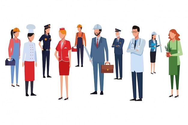 Avatar di lavori e professioni Vettore Premium