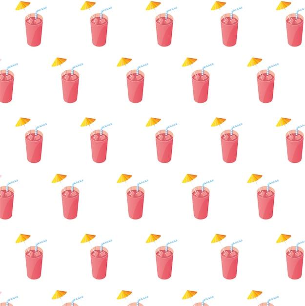 Succhi di frutta cocktail con motivo a pagliette Vettore Premium