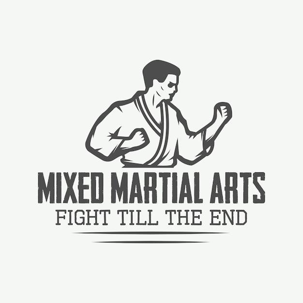 Logo di karate, emblema Vettore Premium