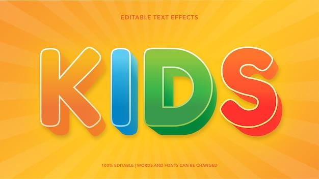 Effetti di testo modificabili per bambini Vettore Premium