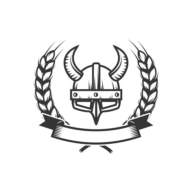 Cavalieri. modello di emblema con elmo da cavaliere medievale. elemento per logo, etichetta, emblema, segno. illustrazione Vettore Premium