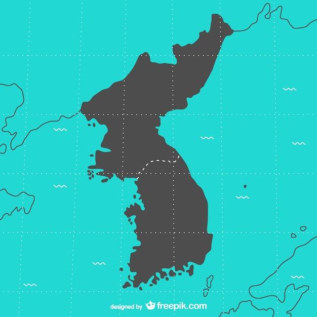 Corea mappa vettoriale Vettore Premium