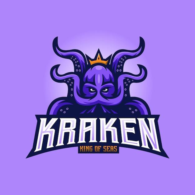Logo della mascotte kraken Vettore Premium