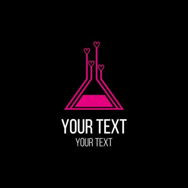 Logo di laboratorio Vettore Premium