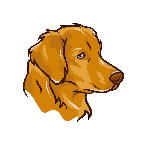 Labrador retriever dog - vector logo / icona illustrazione mascotte Vettore Premium