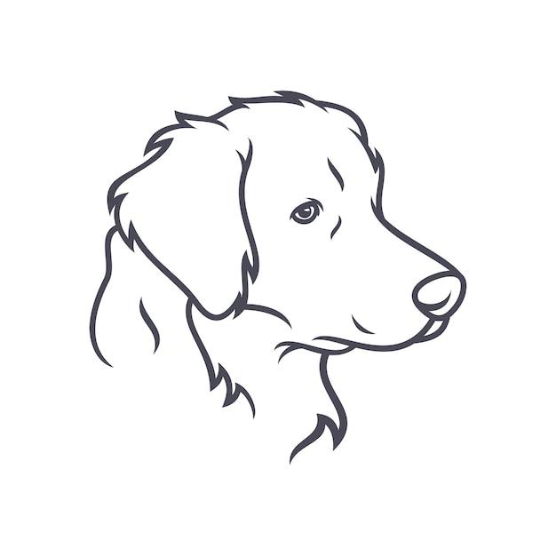 Labrador retriever dog - vector logo / icona illustrazione mascotte Vettore Premium