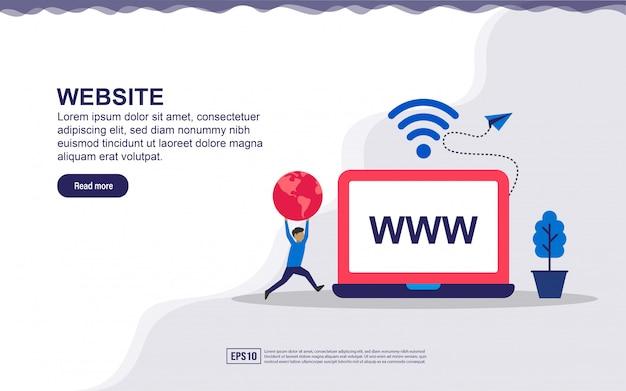 Concetto di pagina di destinazione del sito web Vettore Premium