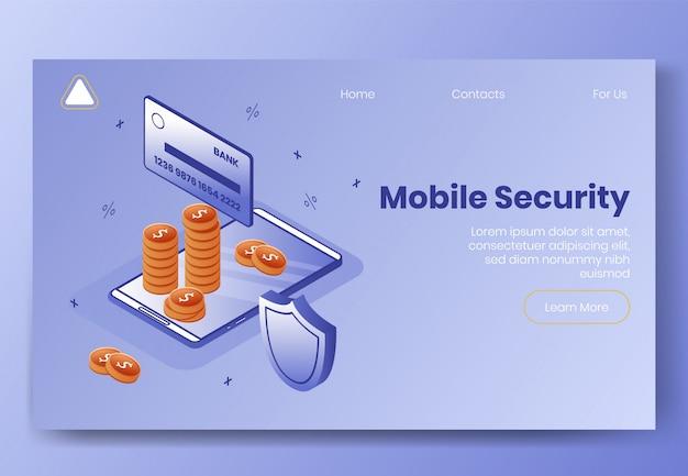 Modello web della pagina di destinazione. concetto di design isometrico digitale Vettore Premium