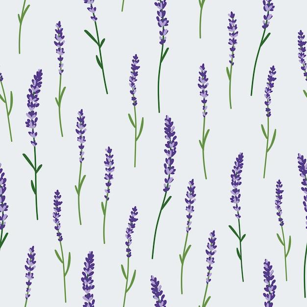 Lavender_pattern Vettore Premium