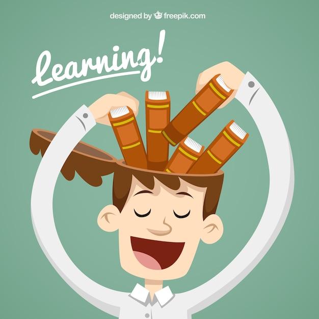 Concetto di apprendimento Vettore Premium