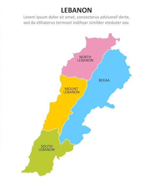 Cartina Del Libano.Libano Mappa