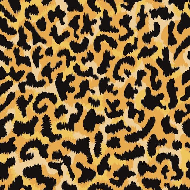 Fondo senza cuciture del modello della pelle di leopardo Vettore Premium
