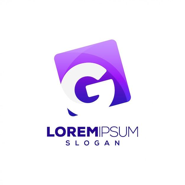 Logo colorato lettera g Vettore Premium