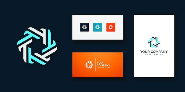 Modello di disegno di icona di marchio di lettera t Vettore Premium