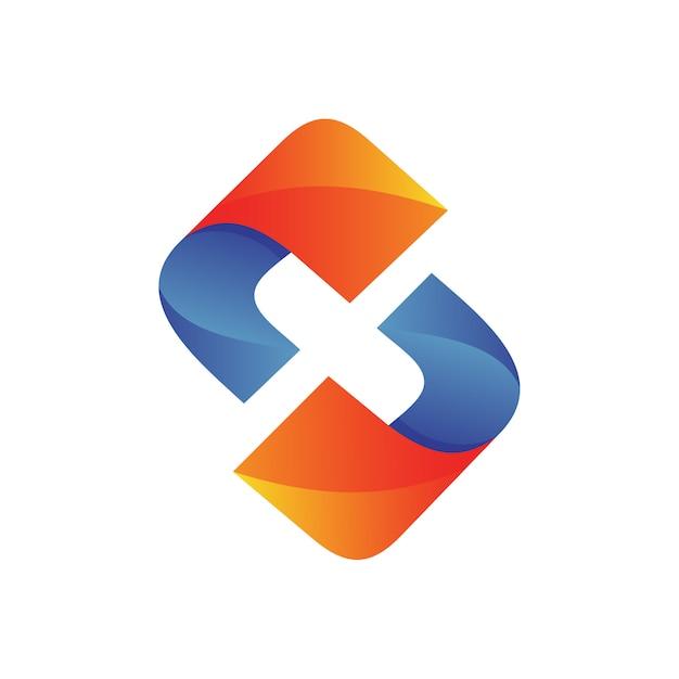 Logo della lettera x. Vettore Premium