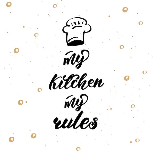 Poster di lettere per cucina Vettore Premium