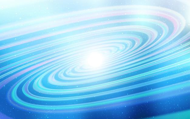 Priorità bassa di vettore di luce blu con stelle di galassia. Vettore Premium