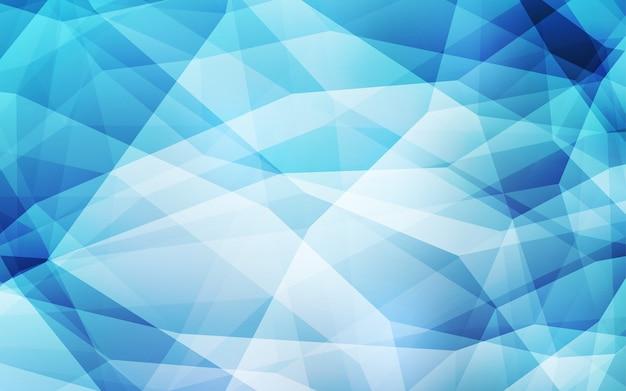Fondo astratto del poligono di luce blu vettoriale. Vettore Premium