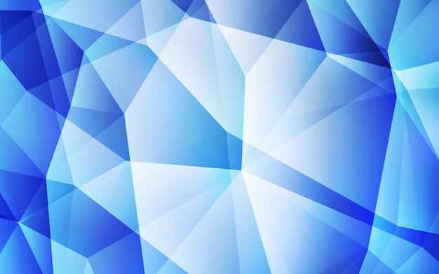 Coperchio in mosaico triangolare vettoriale blu chiaro. Vettore Premium