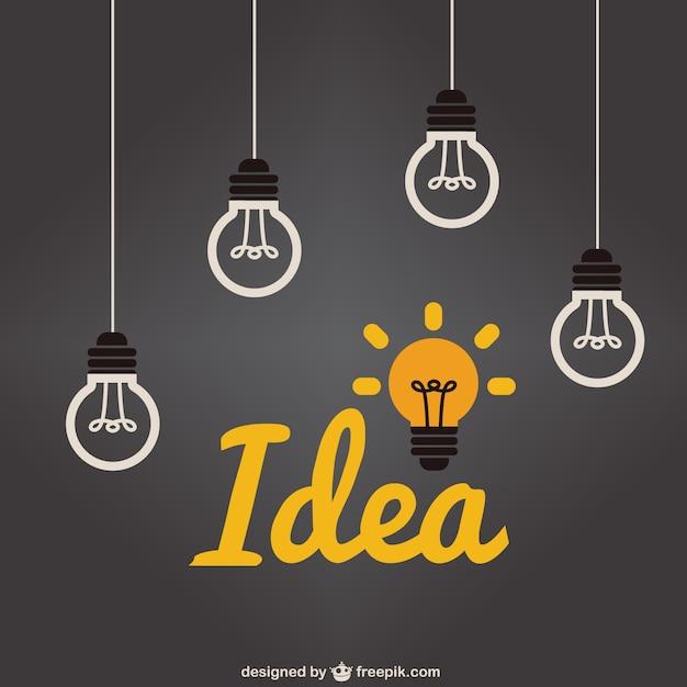 Idea lampadina Vettore Premium