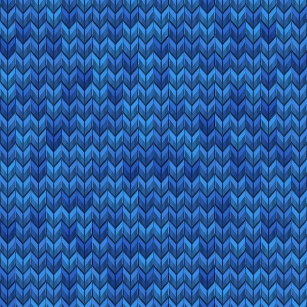 Modello senza cuciture a maglia semplice rumore realistico blu chiaro e scuro. e include anche Vettore Premium