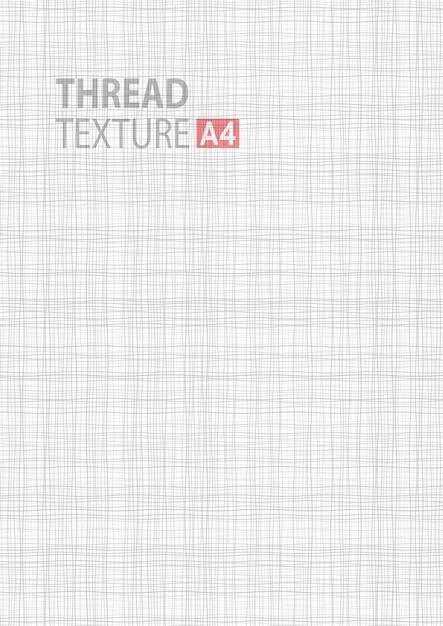 Struttura del tessuto linea bianca grigio chiaro in formato vettoriale a4 Vettore Premium