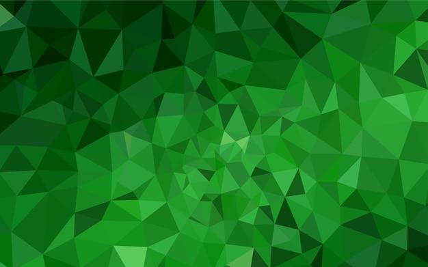 Contesto astratto poligono di luce verde vettoriale. Vettore Premium