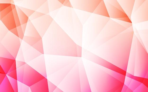 Contesto di mosaico astratto di vettore di luce rosa. Vettore Premium