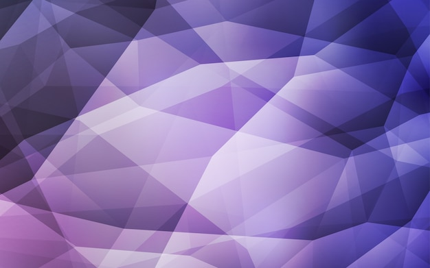 Fondo poligonale dell'estratto di vettore rosso-chiaro. Vettore Premium