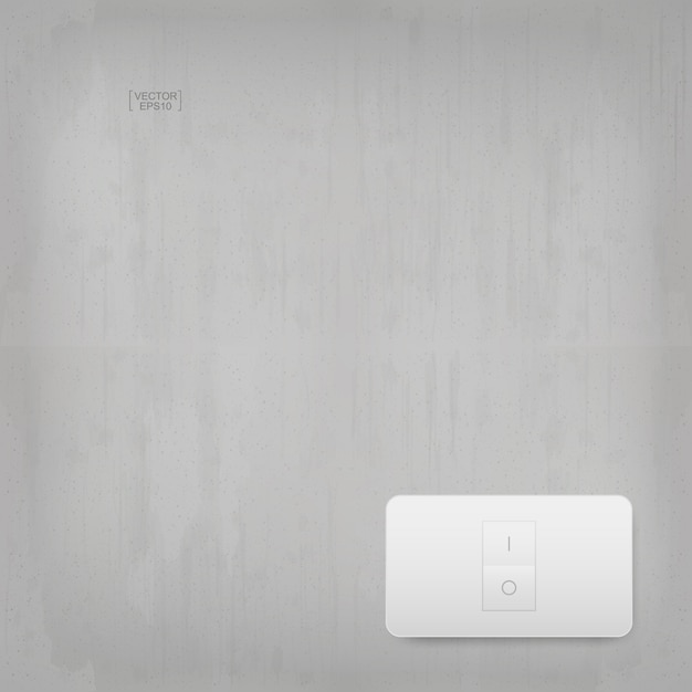 Interruttore della luce sulla priorità bassa del muro di cemento Vettore Premium