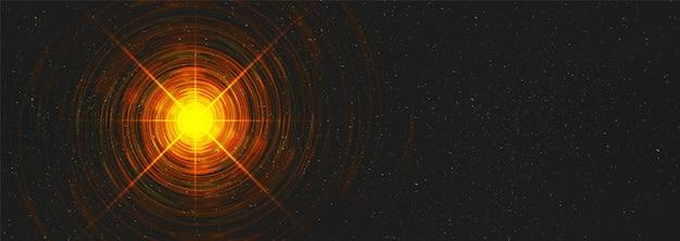 Wormhole di luce sullo sfondo dell'universo cosmico Vettore Premium
