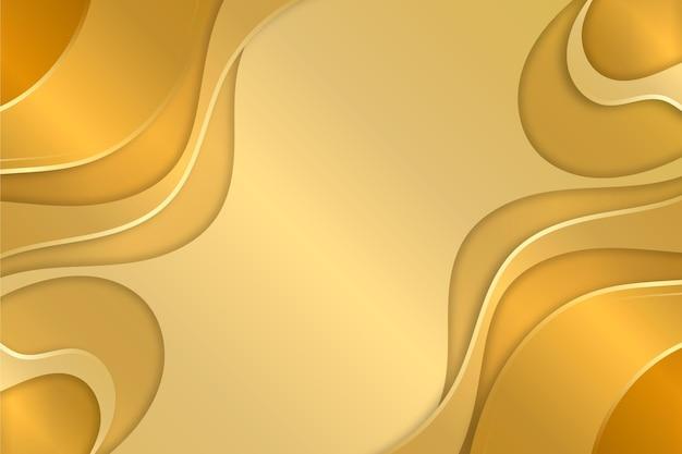 Copia spazio liquido oro lusso sfondo Vettore Premium