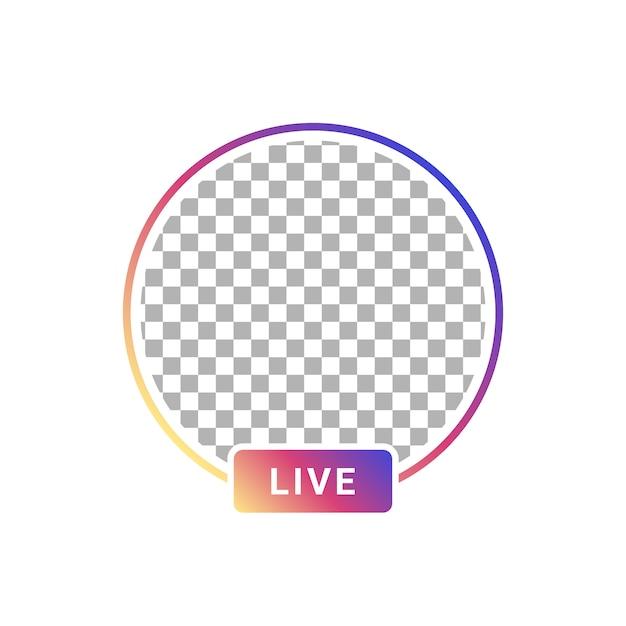 Streaming video utente di storie live Vettore Premium