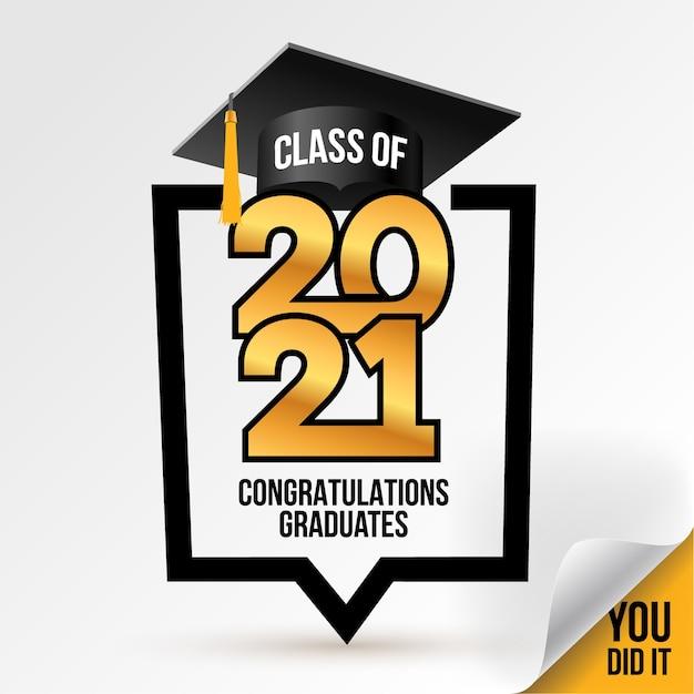 Classe di logo. congratulazioni per la laurea. Vettore Premium
