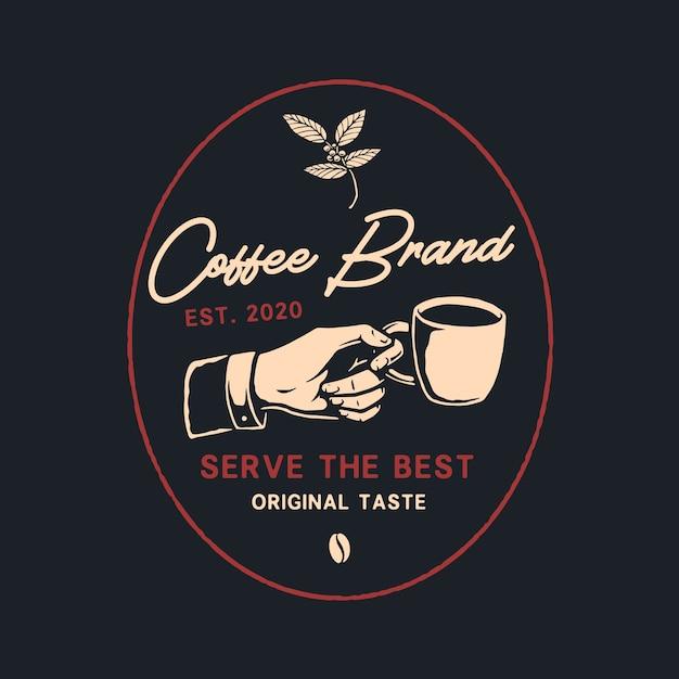 Logo per caffè Vettore Premium
