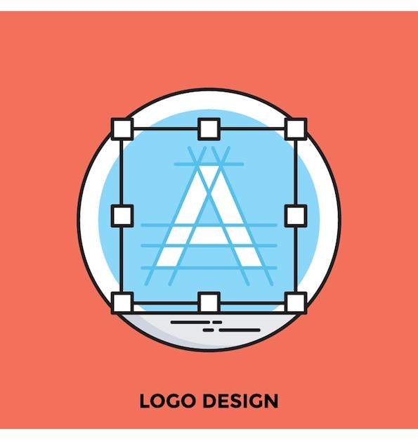 Icona di vettore di logo design piatto Vettore Premium