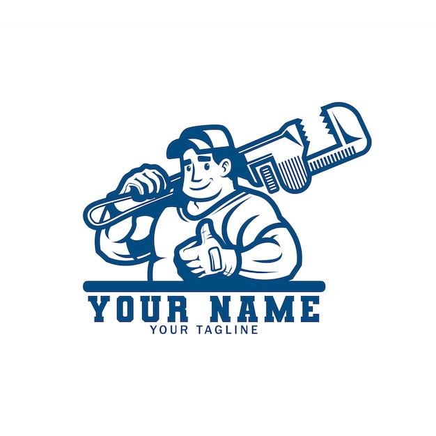 Logo dei servizi idraulici Vettore Premium