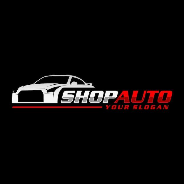 Logo shop auto Vettore Premium