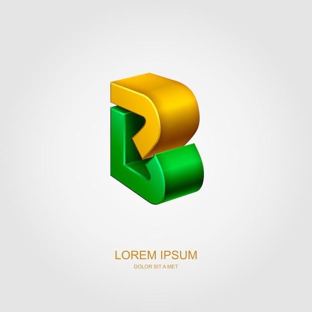 Logotipo 3d sotto forma di lettera